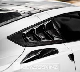GlassSkinz 2014-19 Corvette Bakkdraft Quarter Louvers C7BAKKDRAFT-QTR WINDOW   Lime Rock Green G7J