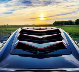 GlassSkinz 2014-19 Corvette Bakkdraft Rear Window Valance / Louver C7BAKKDRAFT   Adm. Blue GTR