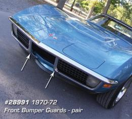 Corvette Front Bumper Guards, Pair, 1970-1972