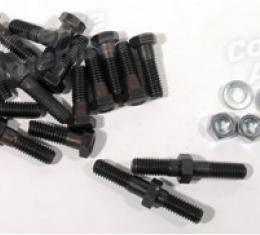 Corvette Exhaust Manifold Bolt Set, Big Block with Power Steering & Air Conditioning, 1966-1974