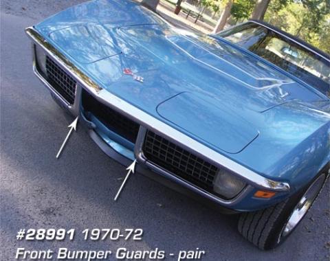 Corvette Front Bumper Guards, Pair, 1970-1972