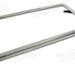 Corvette License Plate Frame, Stainless Steel, 1963-1975
