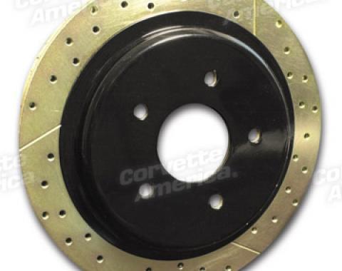 Corvette Brake Rotor Hub Covers, Black, 1997-2004