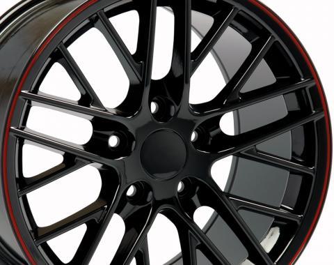 "18"" Fits Chevrolet - Corvette C6 ZR1 Wheel - Black 18x8.5"