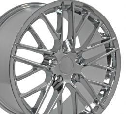 """19"""" Fits Chevrolet - Corvette C6 ZR1 Wheel - Chrome 19x10"""