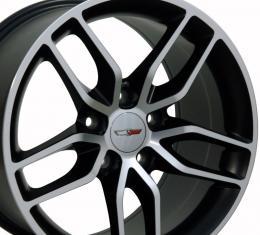 Matte Black Machined Face Wheel fits Corvette (Stingray style) 18x8.5