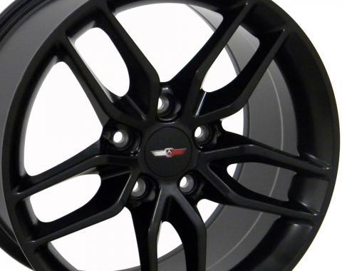 Satin Black Wheel fits Corvette (Stingray style) 18x8.5