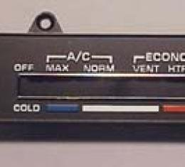 Corvette Air Conditioning Control Face Plate, 1980-1982
