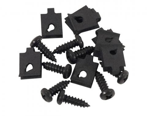 Wiper Grill Mount Screws & Nuts 16 Piece Set, 1963-1967