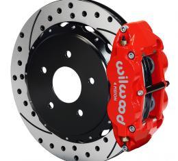 Wilwood Brakes Forged Narrow Superlite 4R Big Brake Rear Brake Kit For OE Parking Brake 140-8032-DR