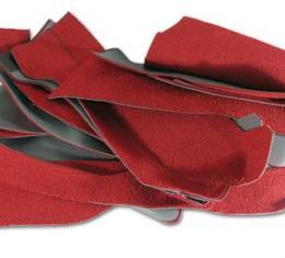 Corvette Carpet, Red Coupe Foam Back      35, 1963