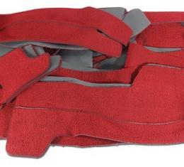 Corvette Carpet, Red Convertible Foam Back (35), 1963