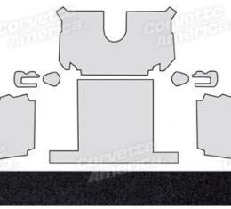 Corvette Rear Carpet, Black Poly-Back Convertible 20, 1988-1989
