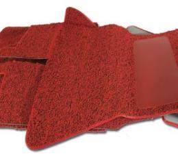 Corvette Carpet, Tuxedo, Red (35), 1959-1960