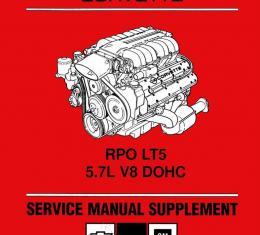 Corvette Service Manual Supplement, RPO LT5, 1990-1993