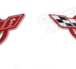 Corvette Sill Plate Decals, Red, 1997-2004