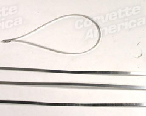 "Corvette Exhaust Wrap Locking Ties, Stainless Steel 14"""