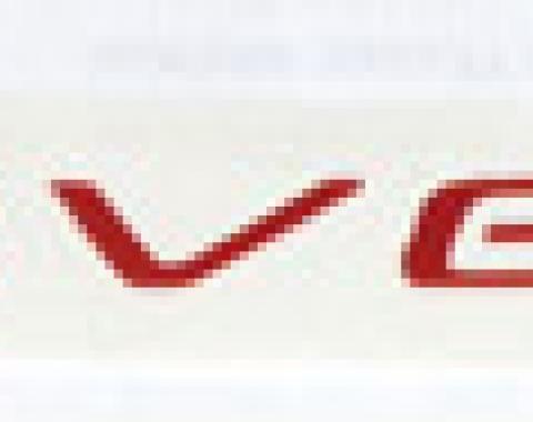 Corvette Dash Letter Kit, Torch Red, 1997-2004
