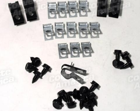 Corvette Brake Line Clips, 34 Piece, 1971-1973