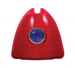 United Pacific Plastic Upper Stop Tail Light Lens w/Blue Dot For 1953 Chevy Passenger Cars C4006-1