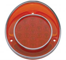 United Pacific 17 LED Tail Light W/Stainless Steel Trim For 1968-73 Chevy Corvette CTL6804LED