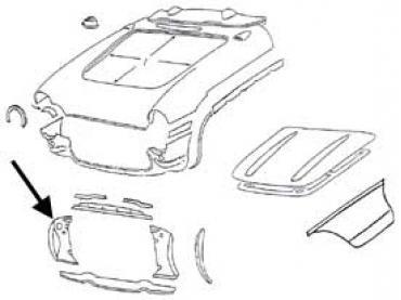 Corvette Radiator Support Panel, Right Side, 1956-1957
