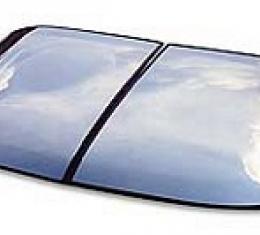 Corvette Roof Panel, T-Top, Mirrored Glass, Silver, Passenger Side, 1968-1982