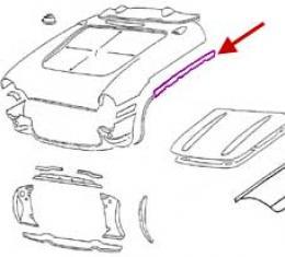 Corvette Bonding Strip, Upper Surround To Side Fender, Right, 1956-1957