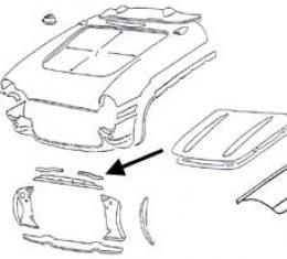 Corvette Upper Radiator Support Bonding Strip, Left, 1956-1957