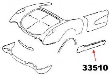 Corvette Rocker Panel, Left, 1956-1960