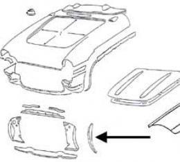 Corvette Radiator Support Bonding Strip, Left, 1956-1957