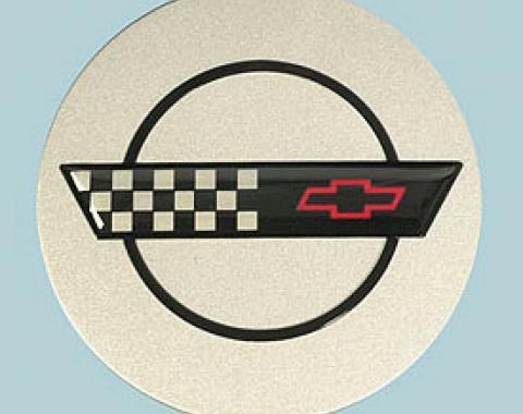 Corvette Wheel Center Cap, Silver Painted, 1991-1992