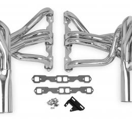 Corvette Hooker Super Competition Sidemount Headers Small Block, Stainless, 1963-1982