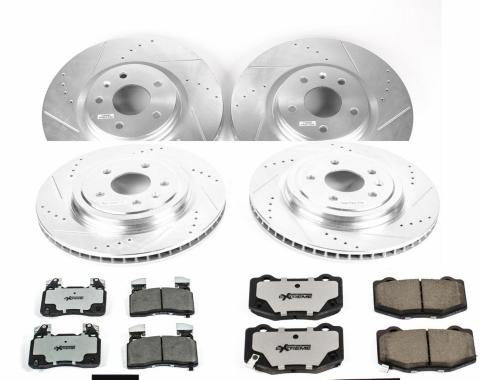 Power Stop 2014-2019 Chevrolet Corvette Z26 Street Warrior Performance Brake Kit K6523-26