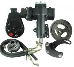 Corvette Steering Conversion Kit, Power Steering Gear Box with Manual Steering Add-On, 327/350, 1967-1982