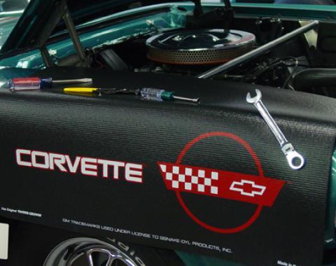 Fender Gripper® Cover, Black with Corvette C4 Logo