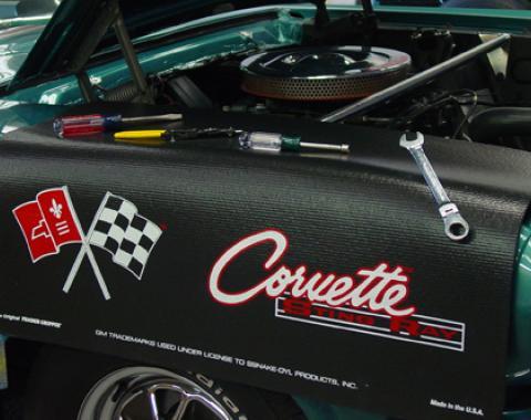 Fender Gripper® Cover, Black with Corvette C2 Logo