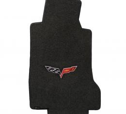 Lloyd Mats 2005-2007 Chevrolet Corvette Corvette 2005-2007.5 2 Piece Mats Ebony Velourtex C6 Logo 620012