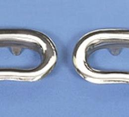 Corvette Open Knob Bezel, Door Panel, 1962-1964