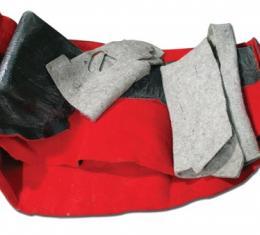 Corvette Front Carpet, Torch Red Mass Back, 2000-2004