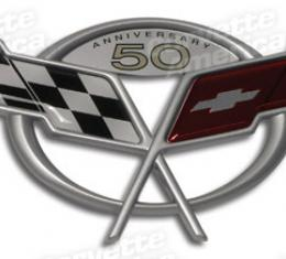 Corvette 50th Emblem, Rear Decklid, 2003
