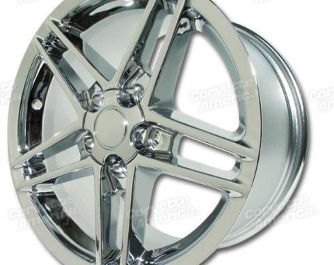 """Corvette Wheel, C6 Z06 Chrome 18"""" x 10.5"""" 58mm Offset, 1988-2004"""