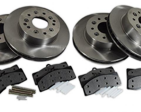Corvette Brake Kit, Front & Rear, Rotors & Pads, 1965-1982