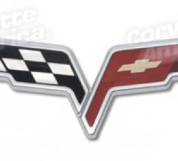 Corvette Bumper Emblem, Front & Waterfall, 2005-2013