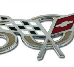 Corvette Side Fender Emblem, 50th Anniversary, 2003