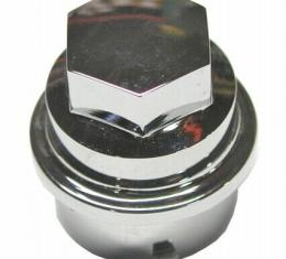 Corvette Lugnut Cover, Chrome, 2000-2004