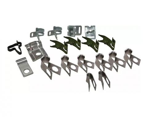 Corvette Brake & Gas Line Clamp Set, 19 Piece, 1963-1965