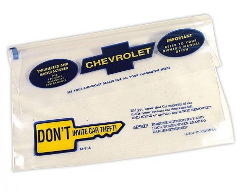 Corvette Owners Manual Bag, 1969-1972