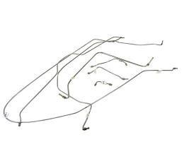 Corvette Brake Line Set, Stainless Steel without Power Brakes, 1963-1964