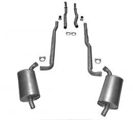 Corvette Exhaust System, 2-2.5In 327 Manual Separate Secondary Pipe and Muffler, 1966-1967